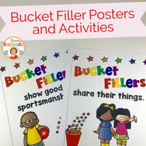 Have you filled a bucket today? Bucket filler activities and posters for students are easy to use and great for bulletin boards.