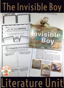 The Invisible Boy literature unit is easy to use and will help your students empathize with others and create a positive classroom environment.