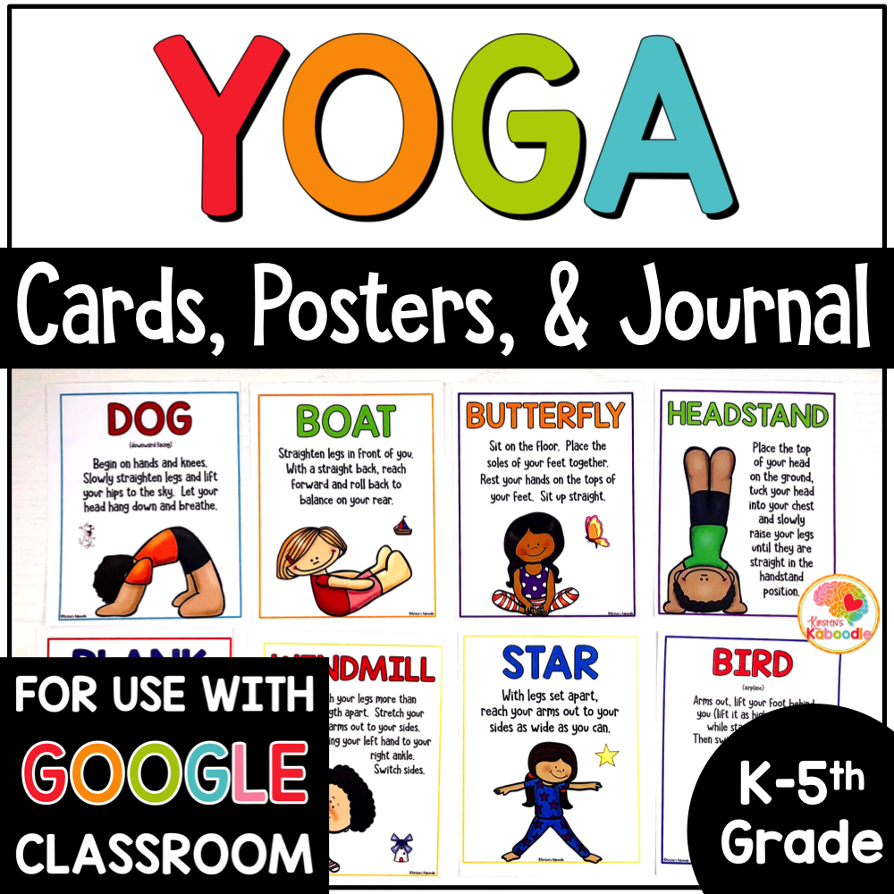 Yoga Cards for Kids Posters and Journal COVER
