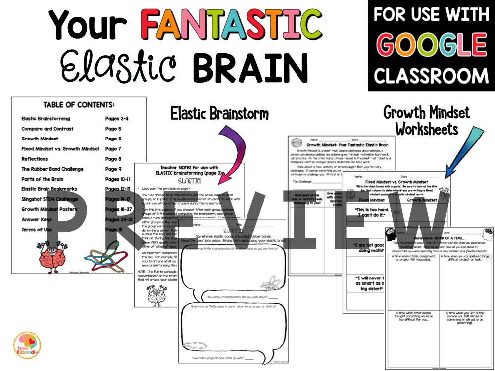 Your Fantastic Elastic Brain Activities PREVIEW