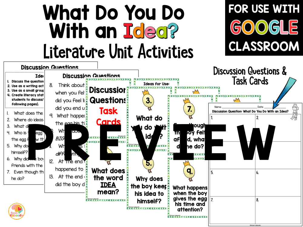 What Do You Do with and Idea Activities PREVIEW