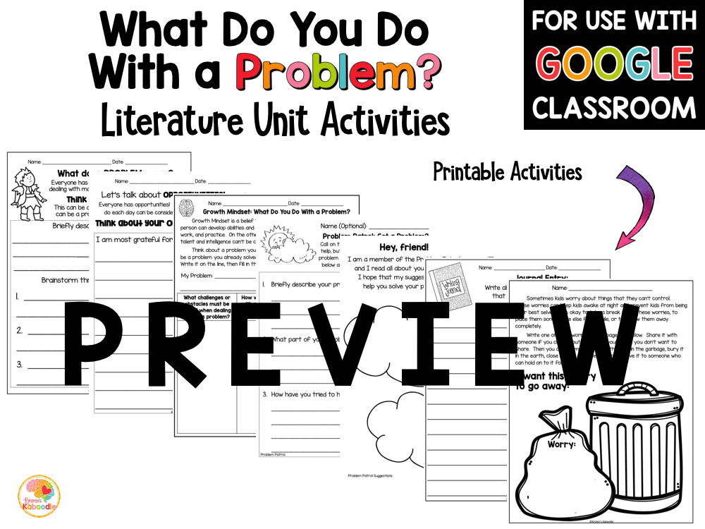 What Do You Do with a Problem Activities PREVIEW