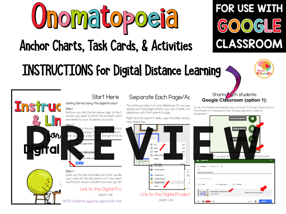 Onomatopoeia Activities with Digital Option PREVIEW
