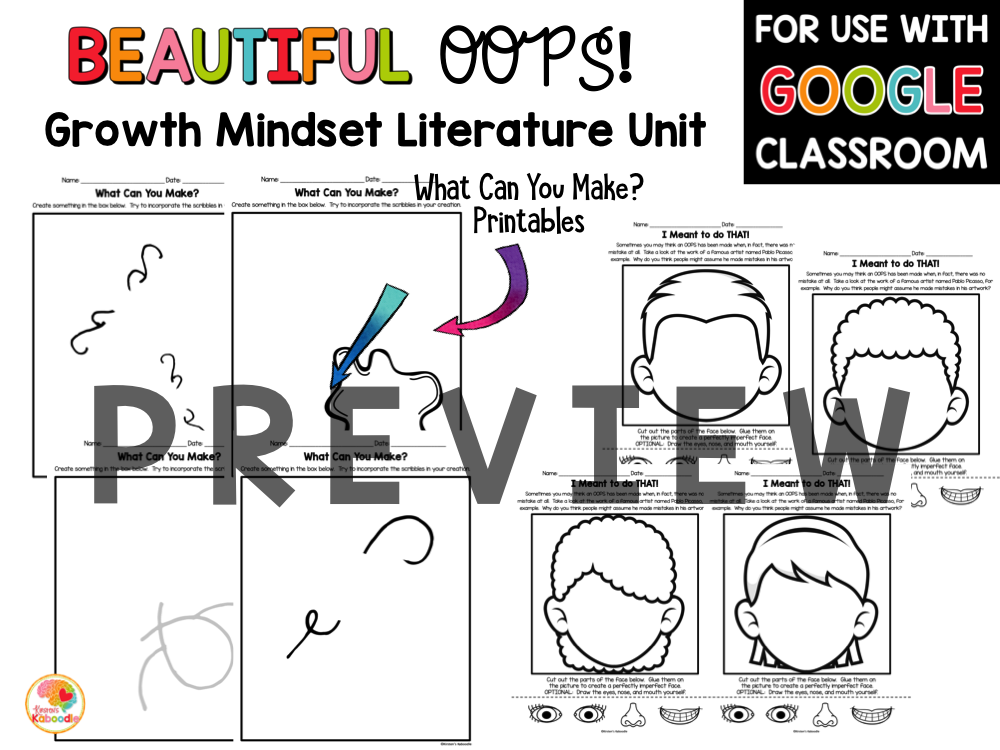 Beautiful Oops Activities for Kids PREVIEW