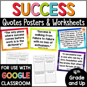 Success Quotes and Activities COVER