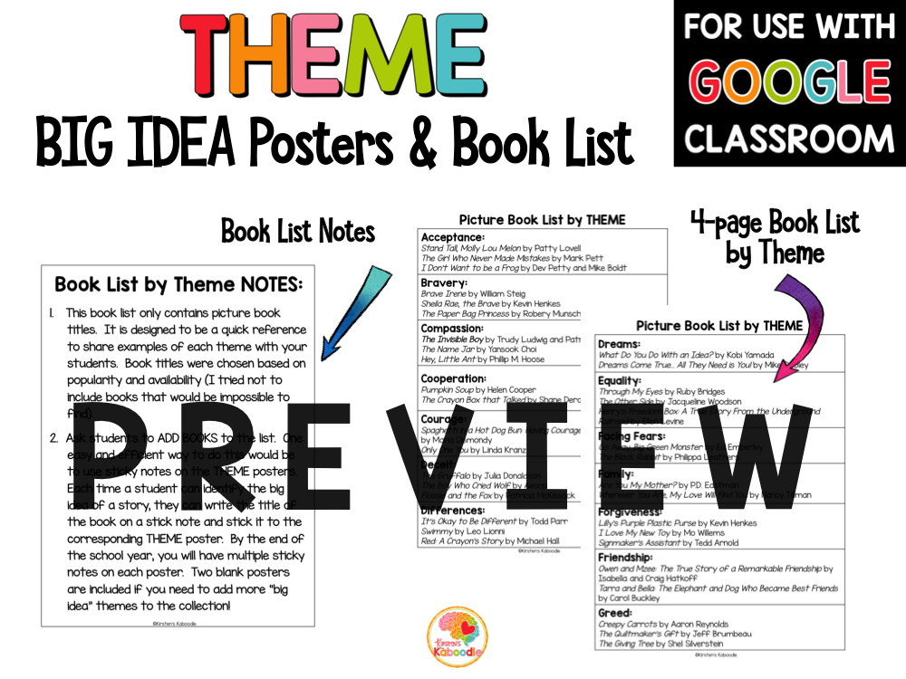 Theme Posters and Book List PREVIEW