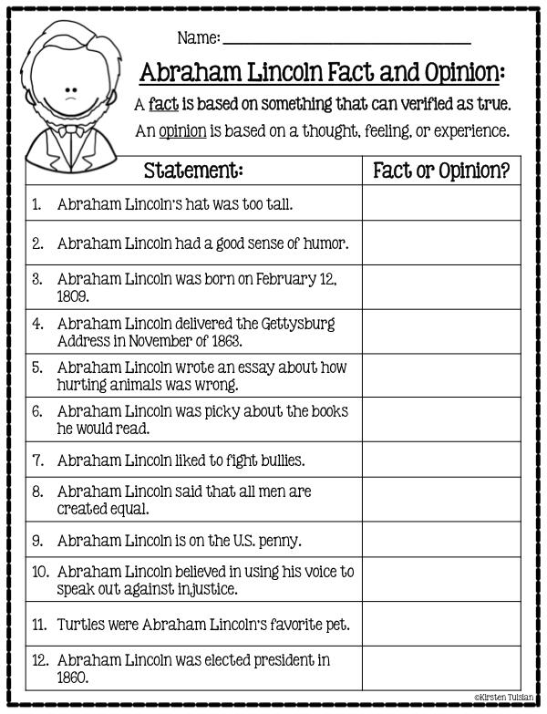 I am Abraham Lincoln by Brad Meltzer Literature Activities