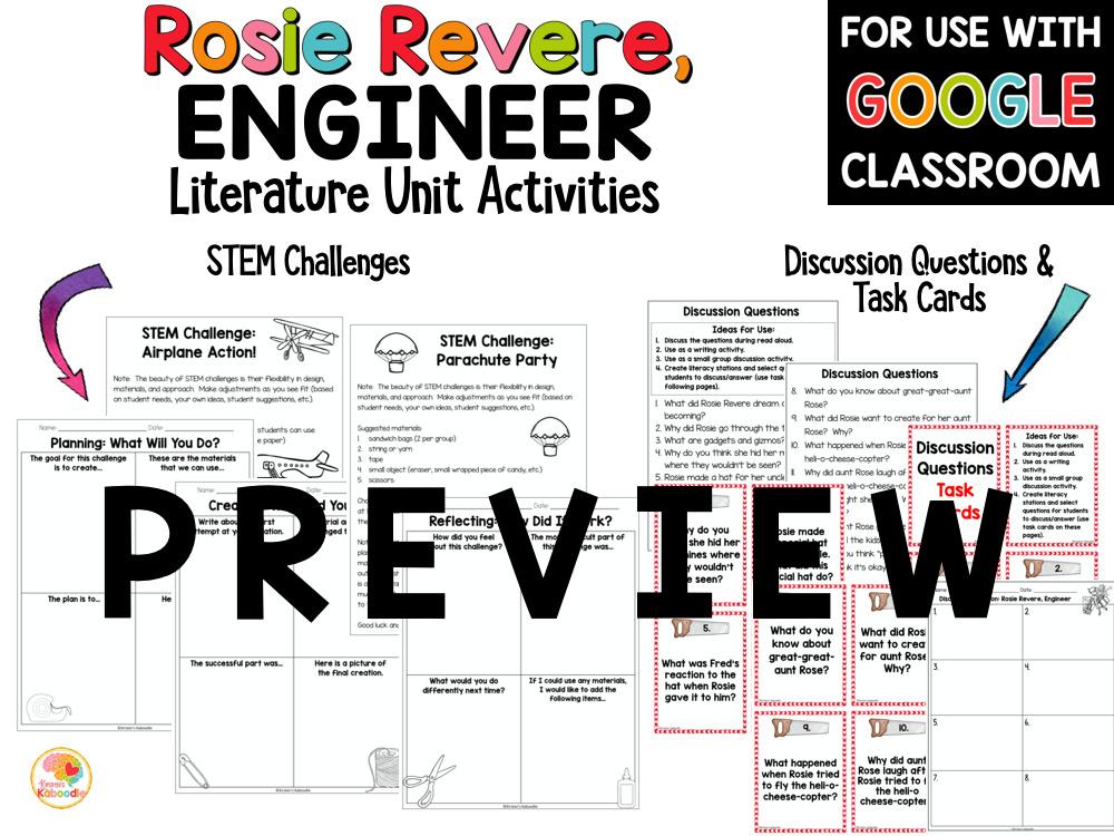 Rosie Revere Engineer Activities Preview