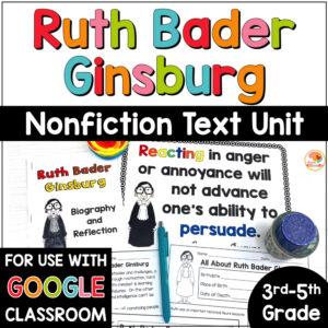 Ruth Bader Ginsburg Nonfiction Biography I Dissent Activities COVER