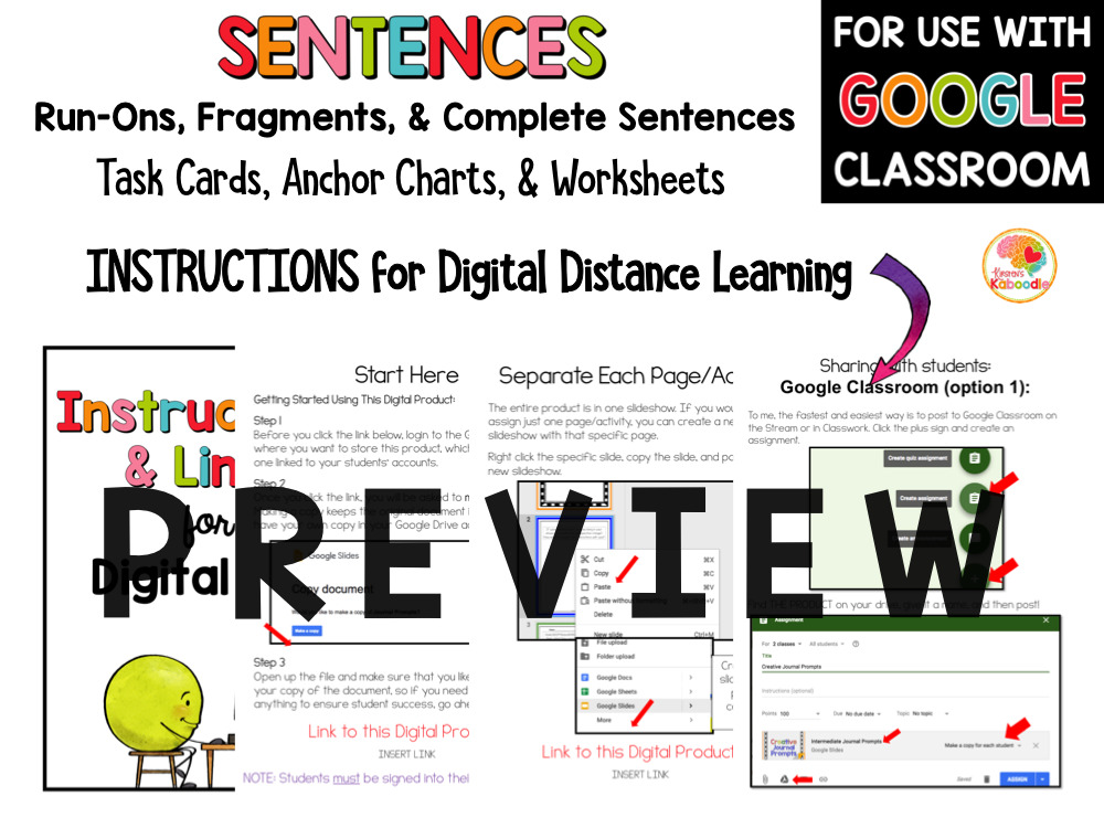 Sentence Fragments, Sentences, and Run On Sentences Activities PREVIEW