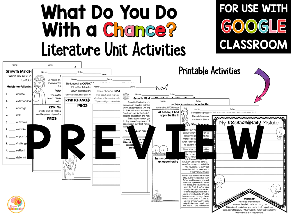 What Do You Do with a Chance Activities PREVIEW