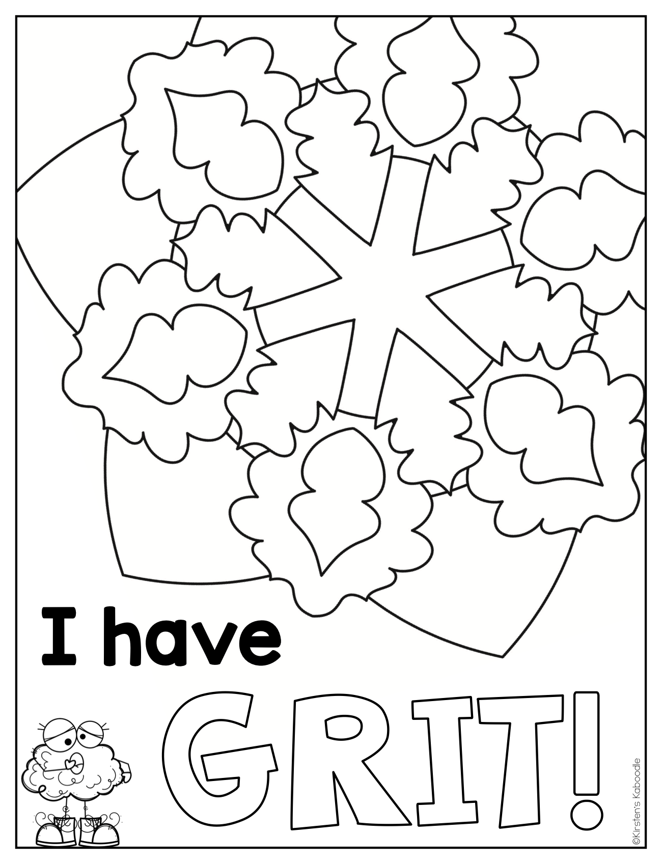 Growth Mindset Coloring Pages - Affirmations for Lower Grades