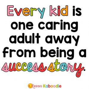 Every kid is one caring adult away from being a success story. Josh Shipp