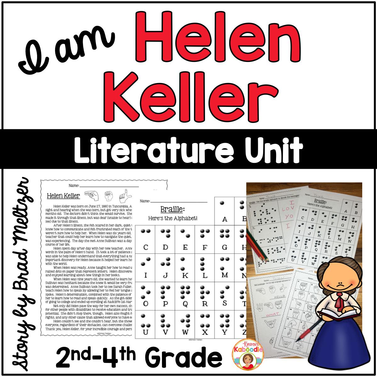 I am Helen Keller by Brad Meltzer Literature Activities
