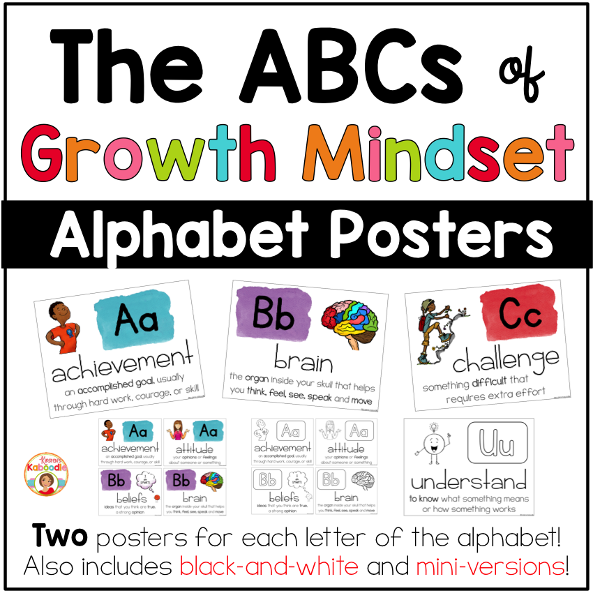 Growth Mindset Alphabet - The ABCs of Growth Mindset