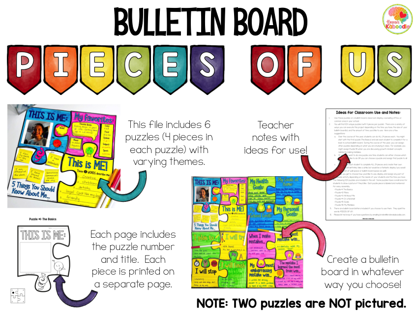 Puzzle Bulletin Board Activities PREVIEW