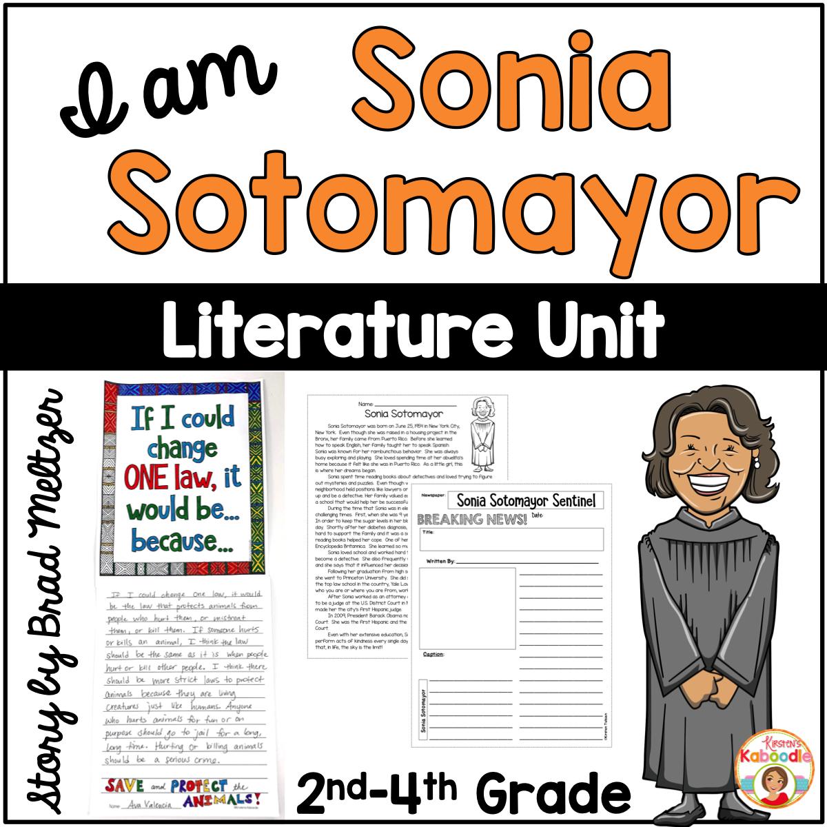 I am Sonia Sotomayor Activities
