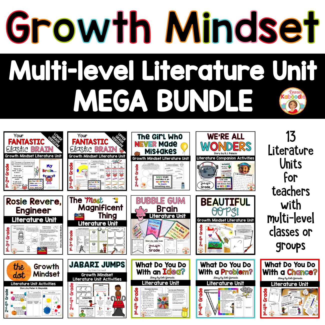 Growth Mindset Multi-level Literature Unit BUNDLE