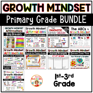Growth Mindset Activities BUNDLE for Primary Grades COVER