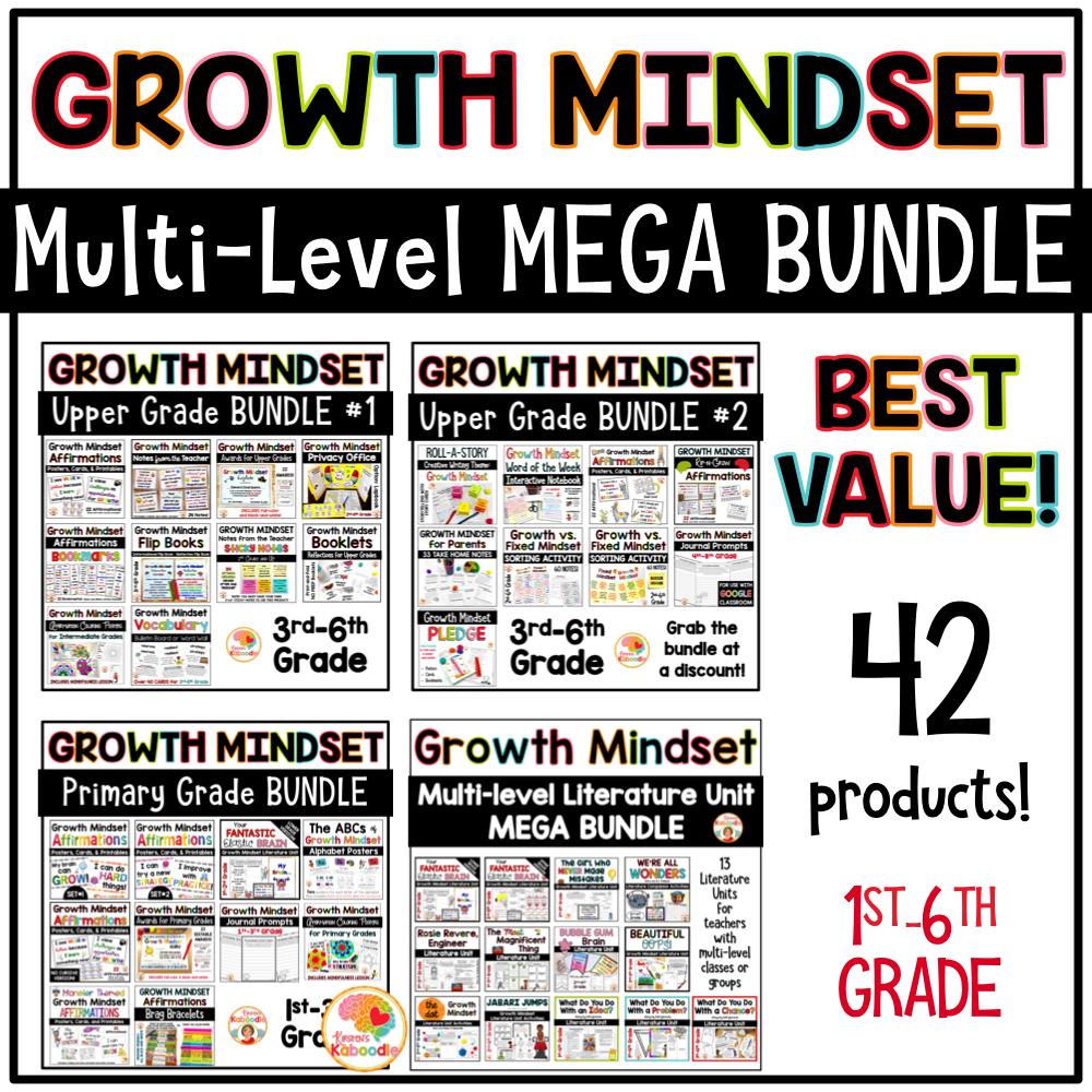Growth Mindset Multi-Level MEGA BUNDLE Cover