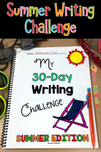 Summer Writing Activities: A 30-Day Challenge for Students