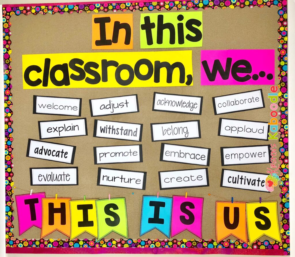 Back to School Bulletin Board for Community Building