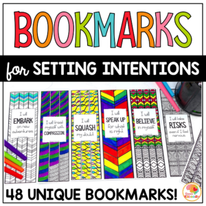 Setting Intentions for Kids Bookmarks with Zen Doodle Designs