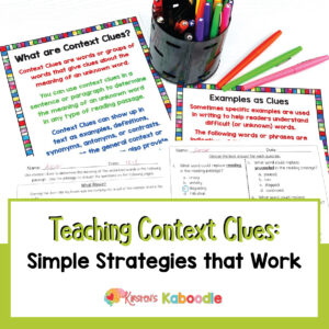 Teaching Context Clues Simple Strategies that Work