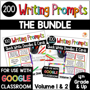 Mindful Reflection Quick Writes Journal Prompts BUNDLE COVER