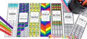 Bookmarks for Setting Intentions for Kids