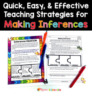 Making Inferences Worksheets: Quick and Easy Teaching Strategies for Making Inferences